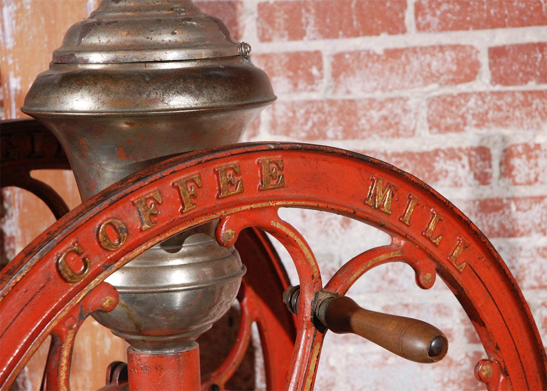 Large Scale American General Store Coffee Grinder At 1stdibs