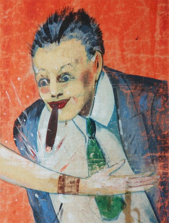 Mid-20th Century Original Coney Island Sideshow Banner Millard & Bulsterbaum