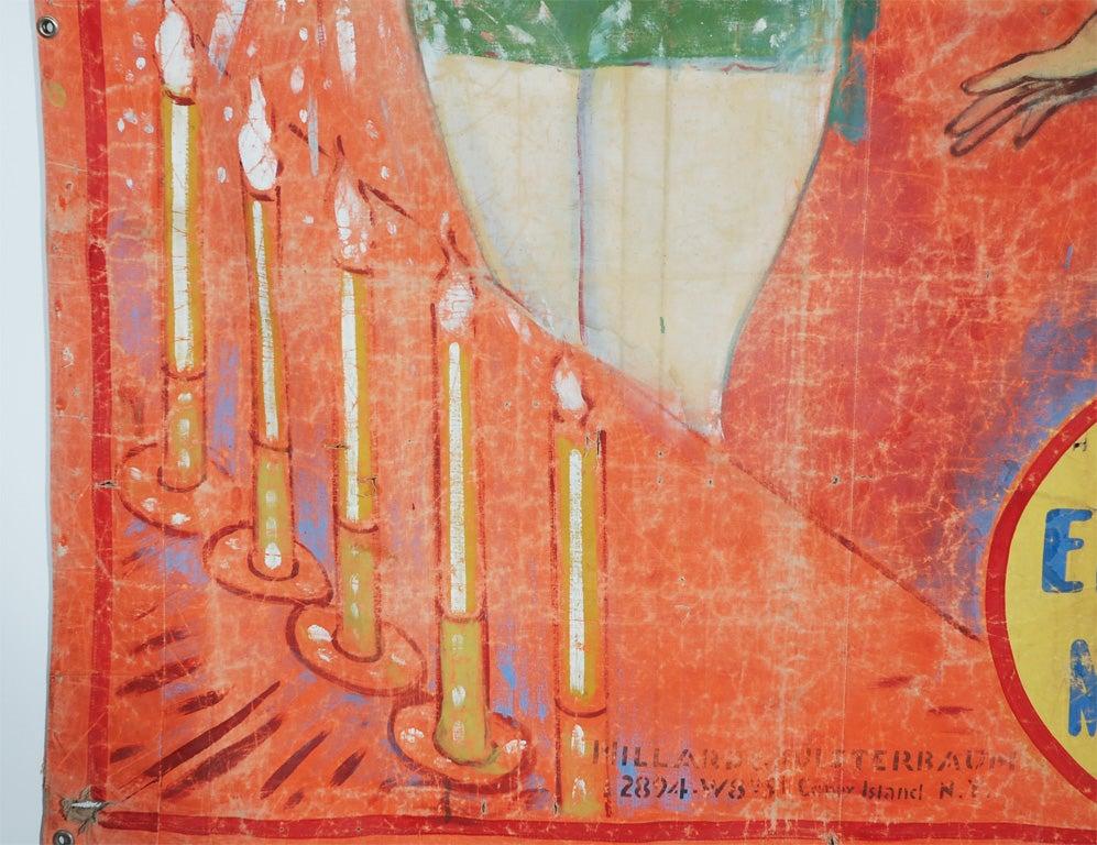 Original Coney Island Sideshow Banner Millard & Bulsterbaum 1