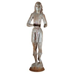 18th Century Carved Joan of Arc Figure