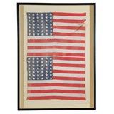 Uncut Double 42 Star American Flag