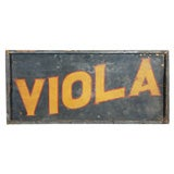 Viola!  Graphic and Bold Trade Sign