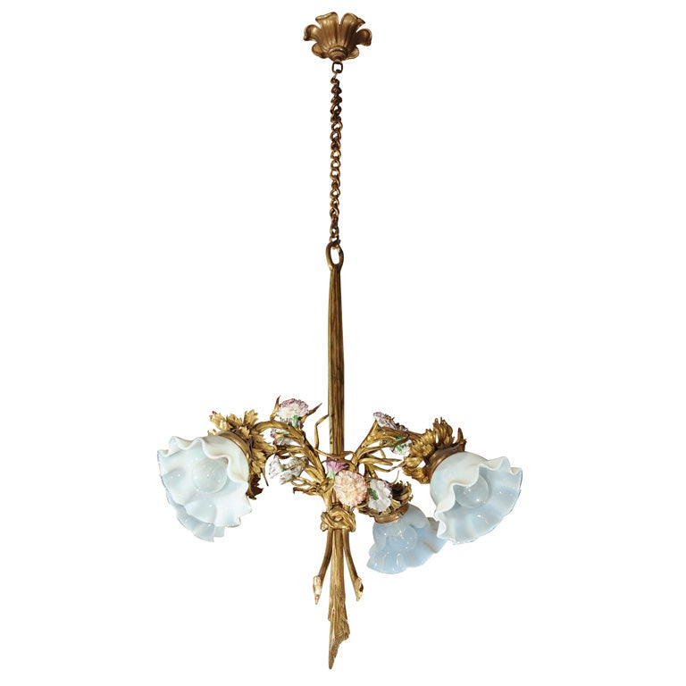 Art Nouveau French Chandelier At 1stdibs