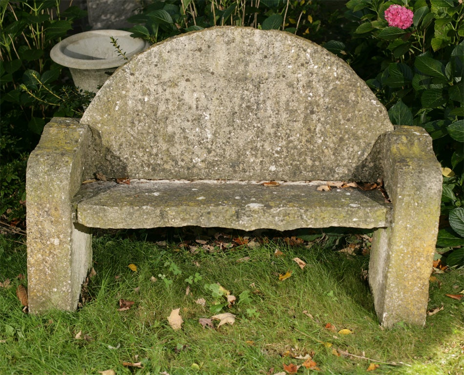 Carved Stone Bench : Incredible carved stone bench at stdibs