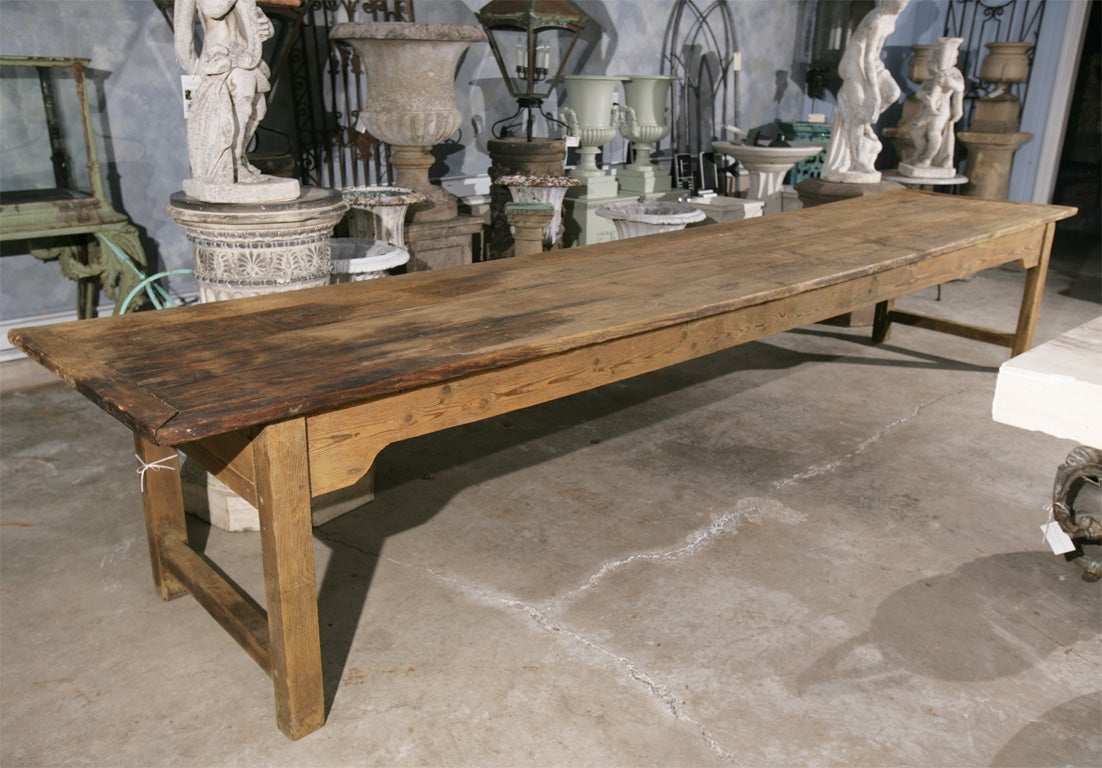 Period Pine And Elm 14 Ft Harvest Table At 1stdibs