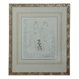 'Eurybia and Eros' Etching by Georges Braque (1882- 1963)