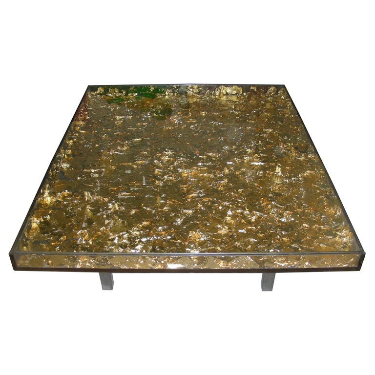 1961 1963 Les Carnets D 39 Or Coffee Table By Yves Klein At 1stdibs