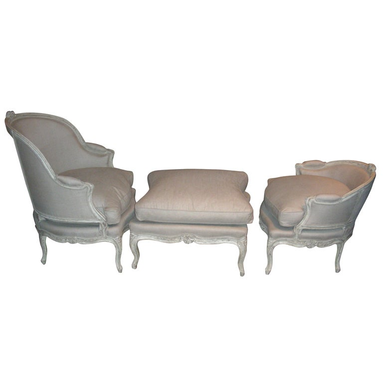 1750 1760 louis xv duchesse bris e in 3 parts at 1stdibs - Chaise longue montreal ...