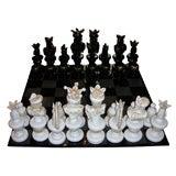 1980's Murano Glass Chess Game Set