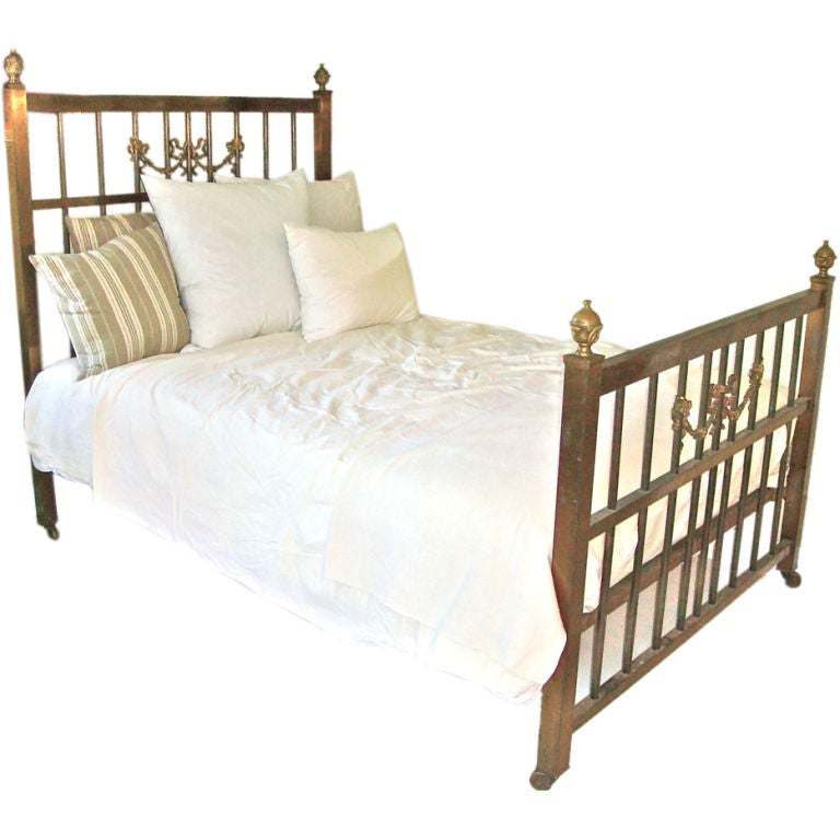 Unusual Brass Double Bed At 1stdibs