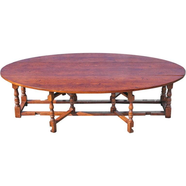 Custom English Gateleg Coffee Table For Sale At 1stdibs
