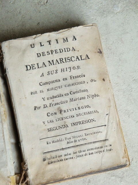 18th C Spanish Books in old Vellum image 5