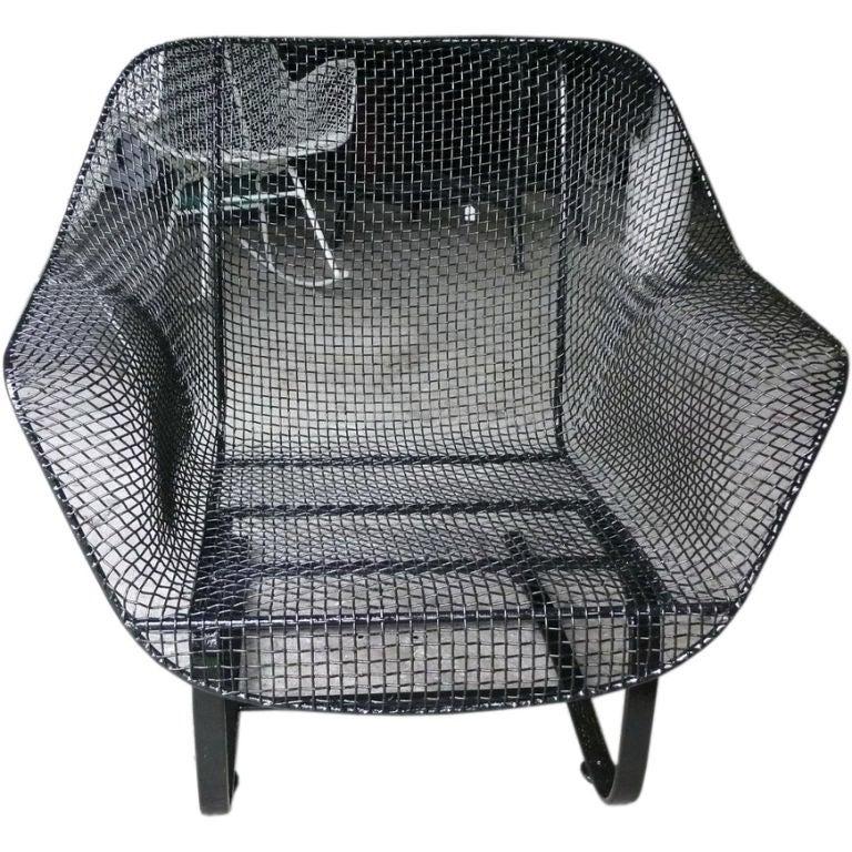 Sculptura Woodard Iron Mesh Outdoor Arm Chair at 1stdibs
