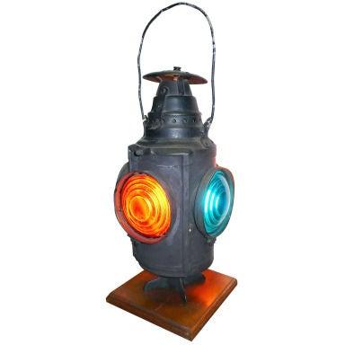 Old Railroad Signal Lamp At 1stdibs