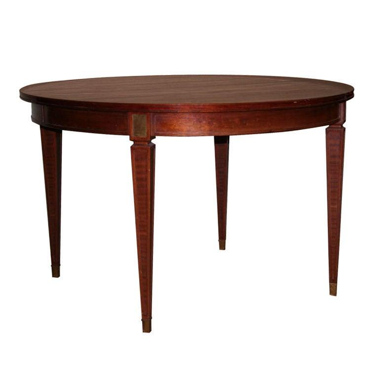Elegant Mahogany Round Dining Table at 1stdibs : dt040803003edit from 1stdibs.com size 768 x 768 jpeg 26kB