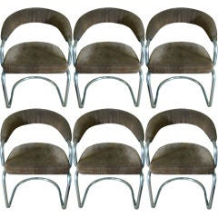 Set of Six  1960's Dinning/ side chairs
