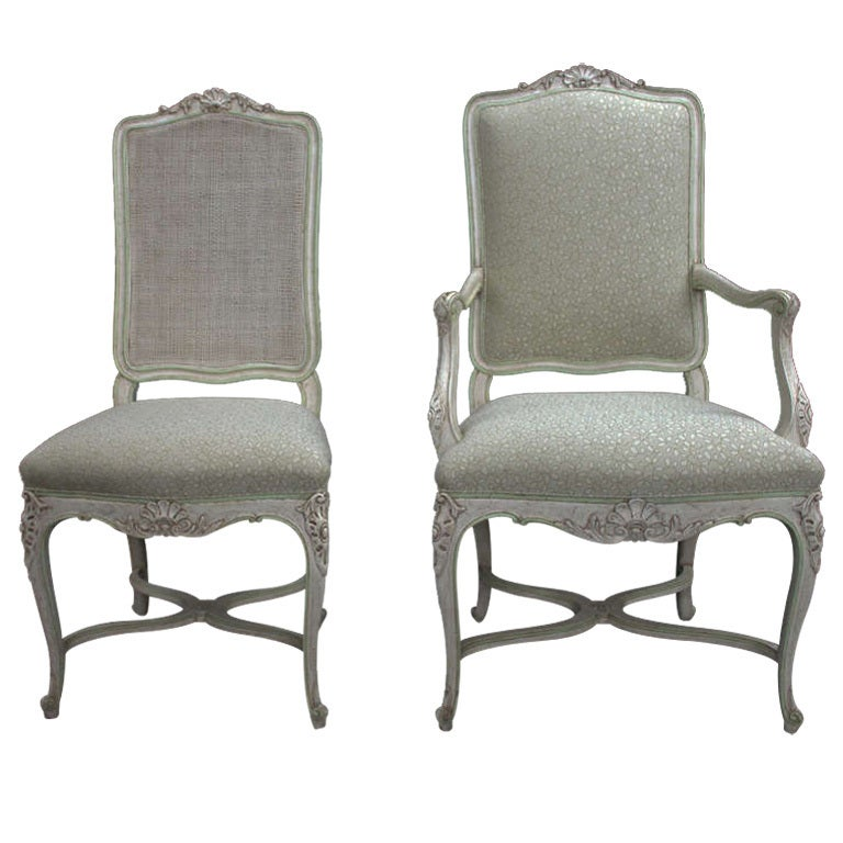 Set of 4 Louis XV Style Dining Chairs at 1stdibs