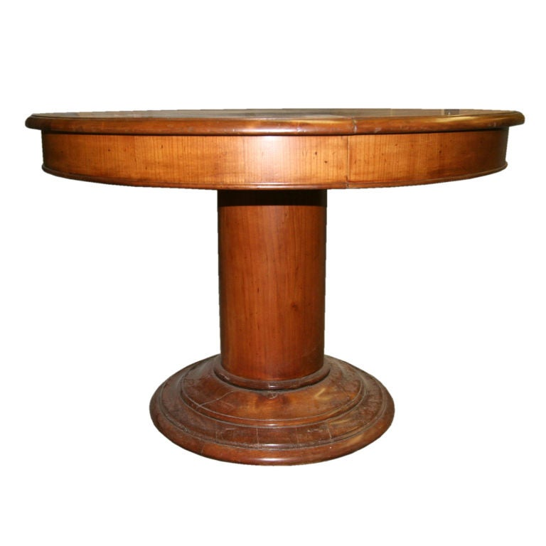 this 1930 39 s column round dining table in pecan is no longer