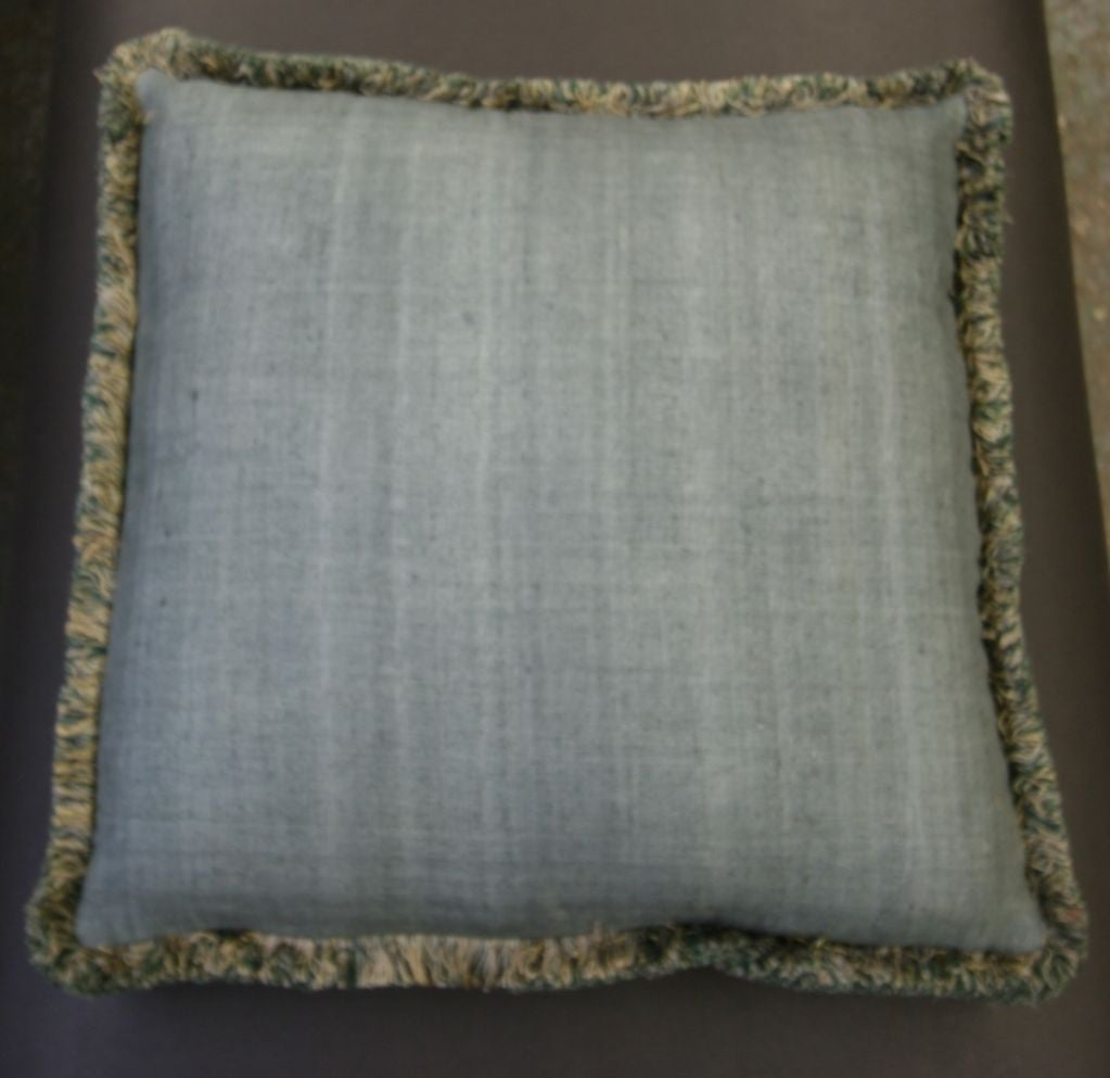 Decorative Throw Pillows With Fringe : elegant custom throw pillows w/decorative fringe at 1stdibs