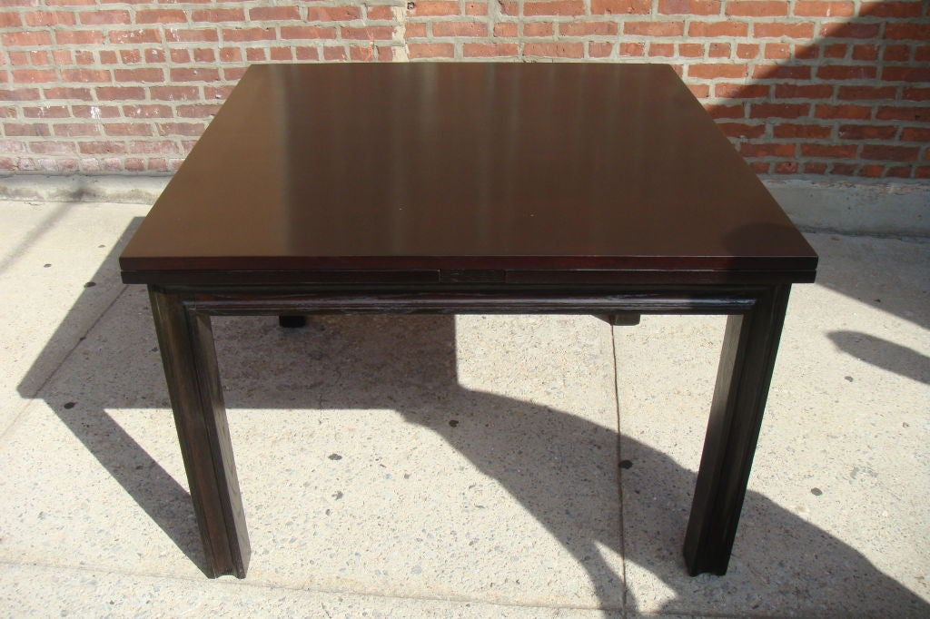 1960s Oak Espresso expandable Dining table at 1stdibs : badus261 from www.1stdibs.com size 1024 x 682 jpeg 116kB