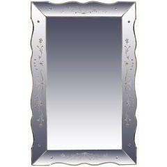Venetian Scalloped Edged Shadow Box Mirror