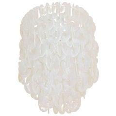 Mazzega Opalescent Glass Chandelier
