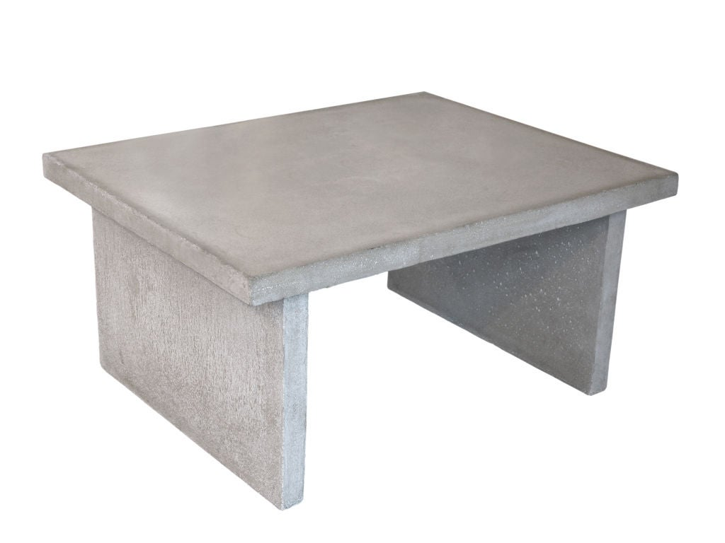 Pair Of Custom Coffee Tables In Cast Cement At 1stdibs