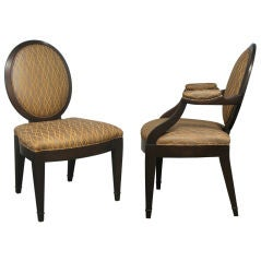 Set of 8 Elegant Dining Chairs by John Hutton for Donghia
