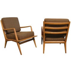 Pair of Sculptural Lounge Chairs by Carlo di Carli