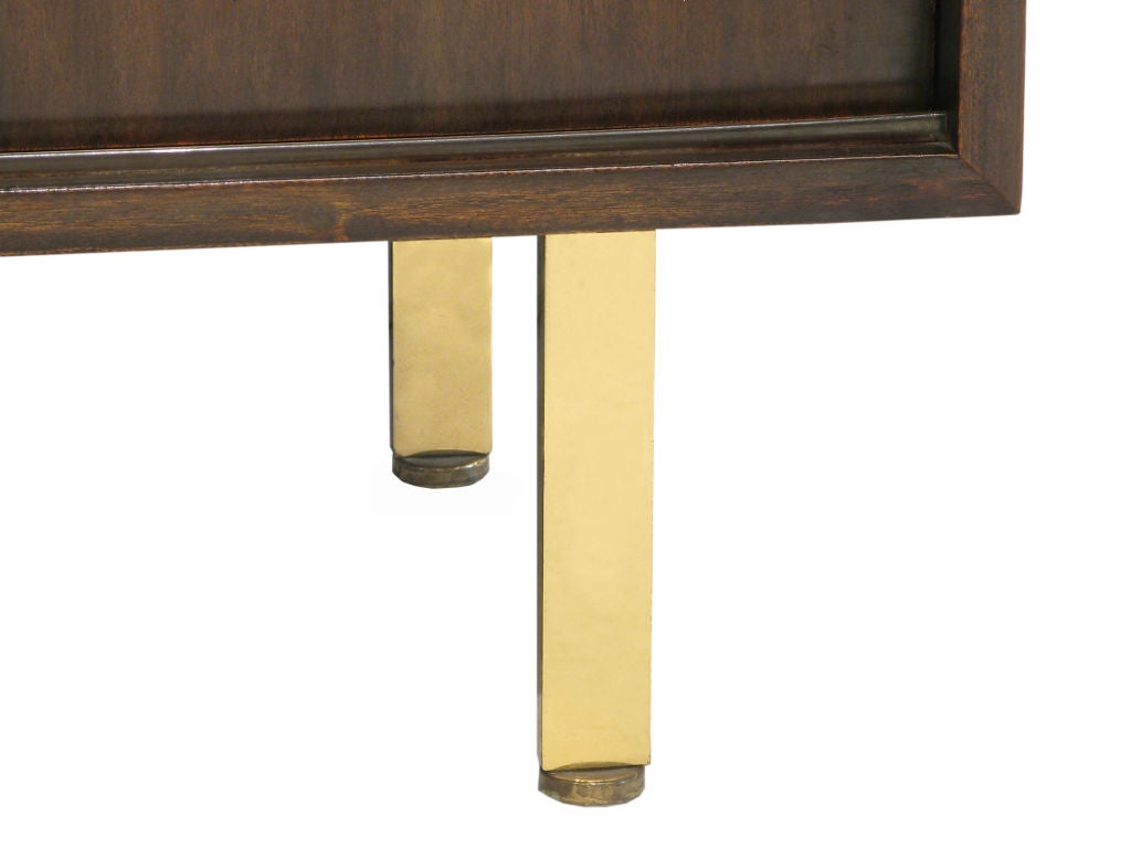 2 door cabinet in mahogany with brass pulls by harvey