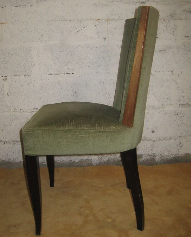 Set of Eight Art Deco Dining Chairs For Sale 1