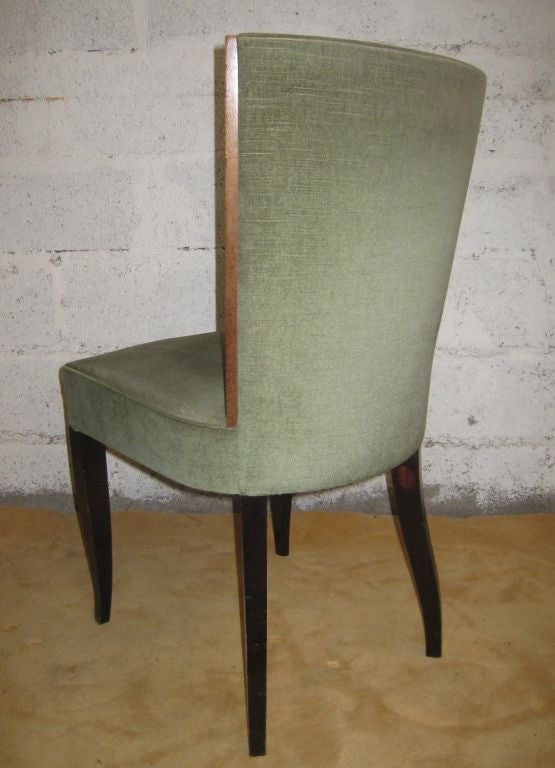 Rosewood Set of Eight Art Deco Dining Chairs For Sale