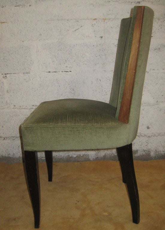French Set of Eight Art Deco Dining Chairs For Sale