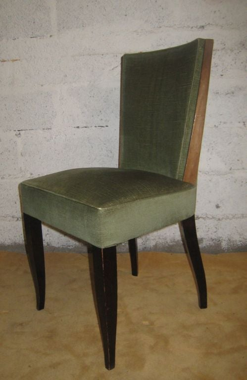 Mid-20th Century Set of Eight Art Deco Dining Chairs For Sale