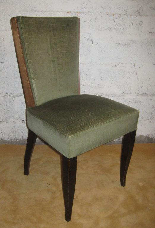 Set of Eight Art Deco Dining Chairs In Good Condition For Sale In Brooklyn, NY