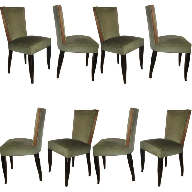 Set Of 8 Art Deco Dining Chairs At 1stdibs