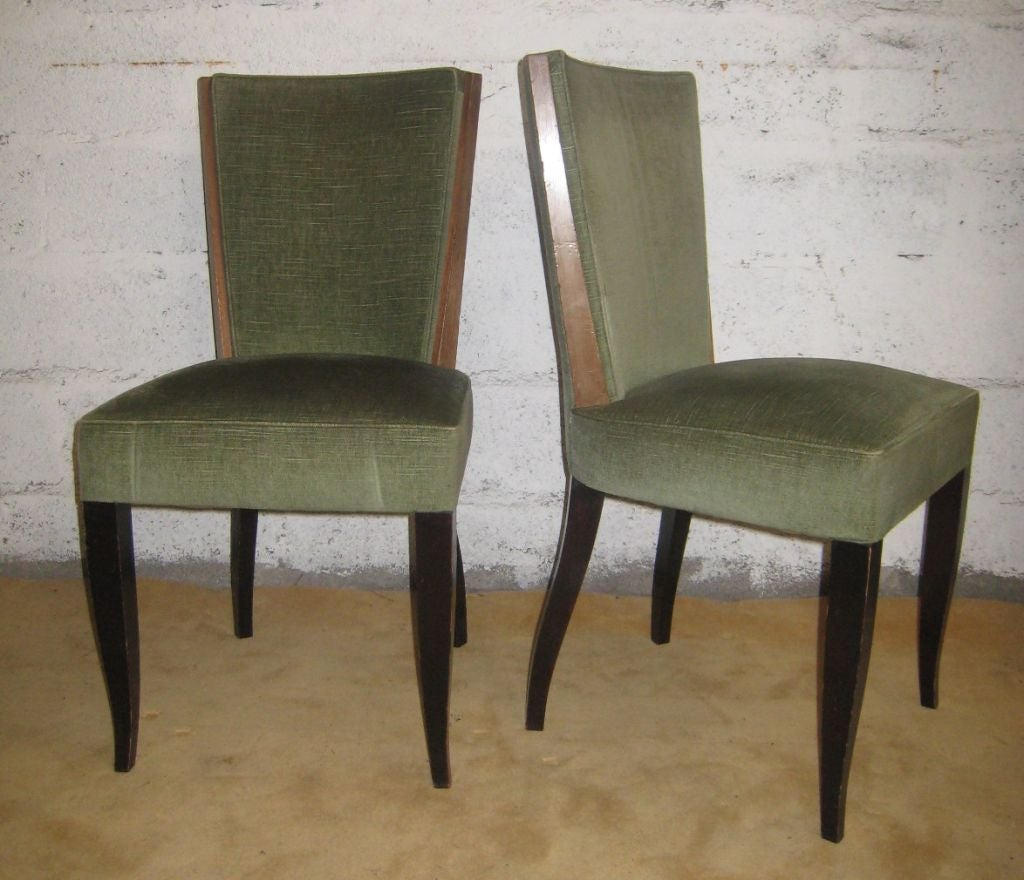 Set of Eight Art Deco Dining Chairs For Sale 2