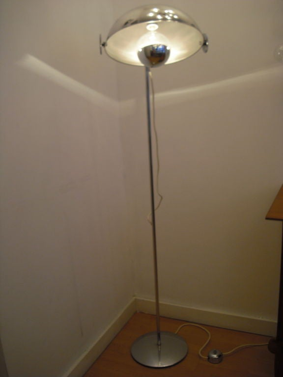 Reggiani 1970 S Chrome Floor Lamp At 1stdibs