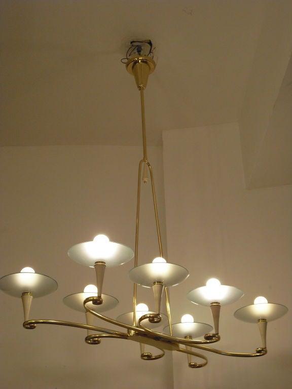 fontana d 39 arte chandelier at 1stdibs. Black Bedroom Furniture Sets. Home Design Ideas