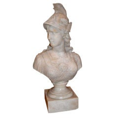 19th c. Marble Buste of Minerva