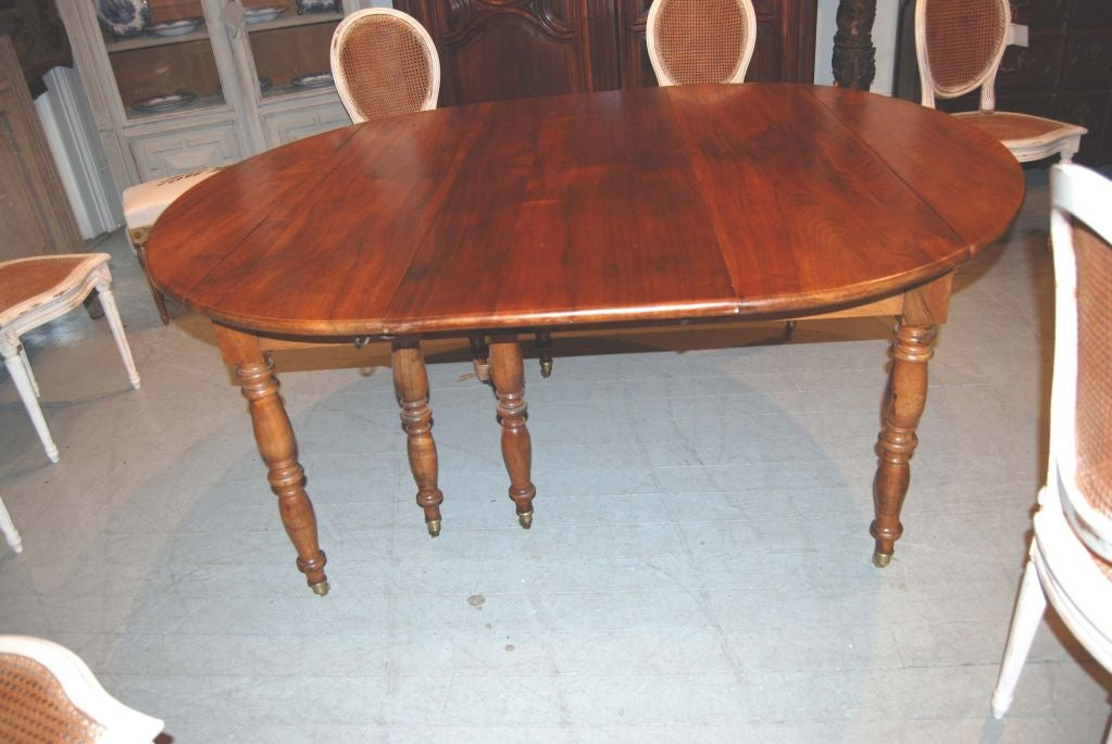 French 19th c. Walnut Extension Table For Sale
