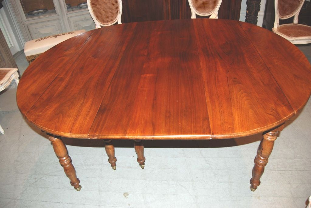 19th Century 19th c. Walnut Extension Table For Sale