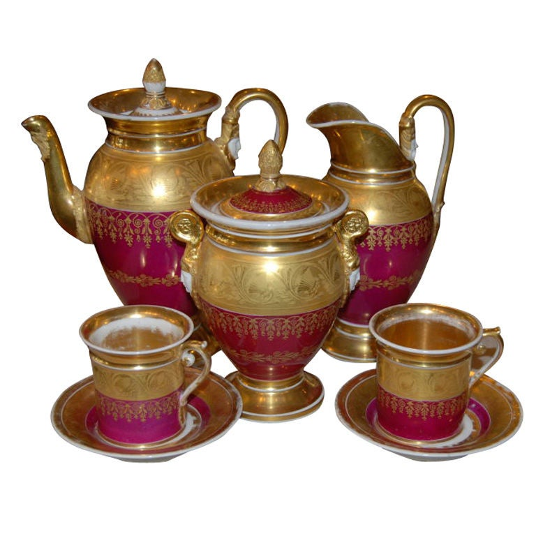 Paris Porcelain Tea Set 1