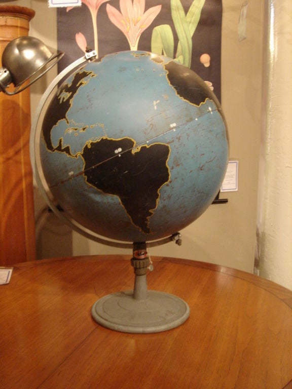 Vintage Military Globe by Denoyer Geppart image 2
