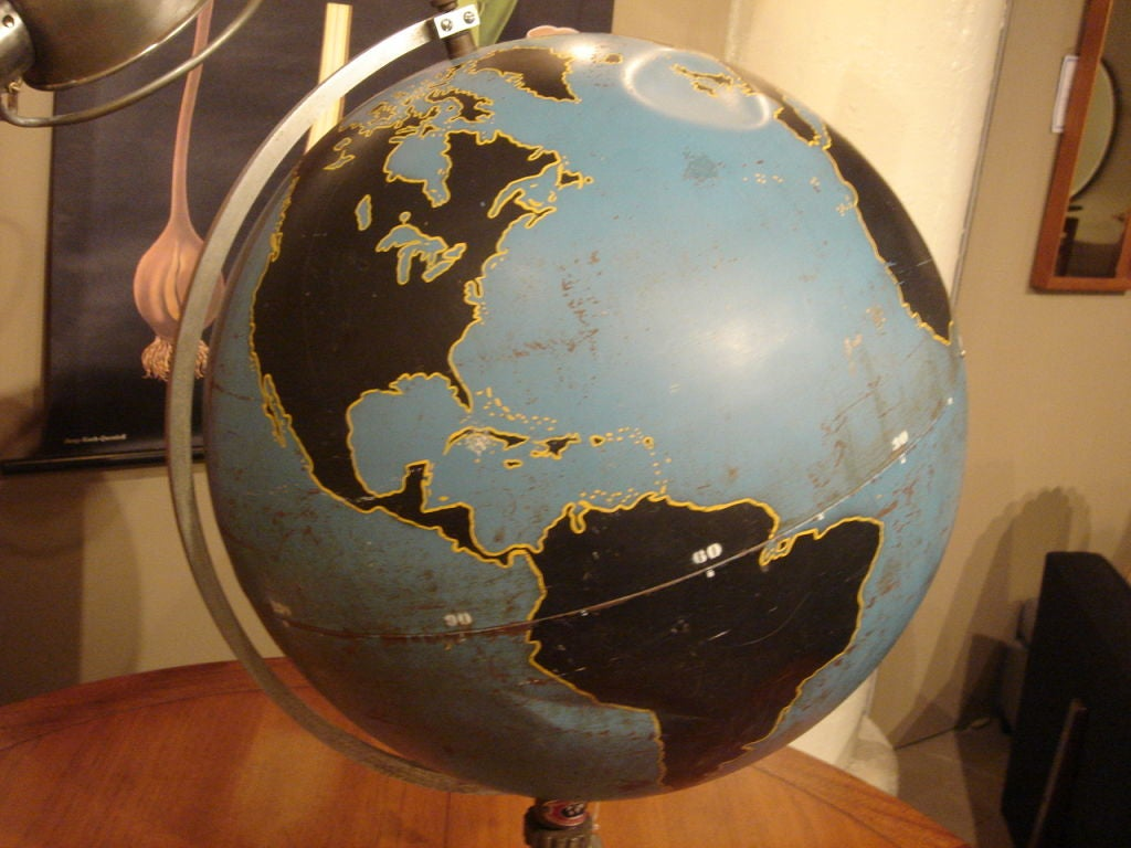 Vintage Military Globe by Denoyer Geppart image 3