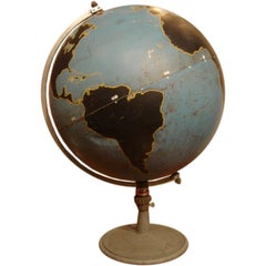 Vintage Military Globe by Denoyer Geppart