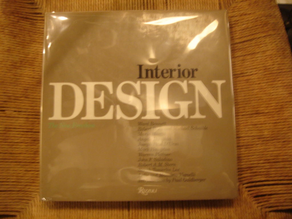 first edition of interior design 1983 hardcover book at