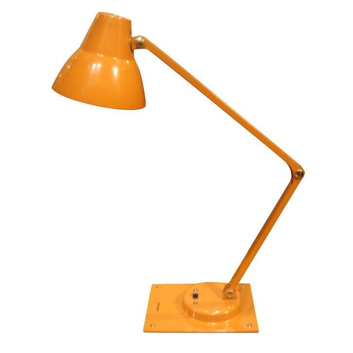 mid century orange metal desk lamp by jay monroe for tensor at 1stdibs. Black Bedroom Furniture Sets. Home Design Ideas