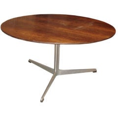 Vintage Rosewood Coffee Table by Arne Jacobsen for Fritz Hansen