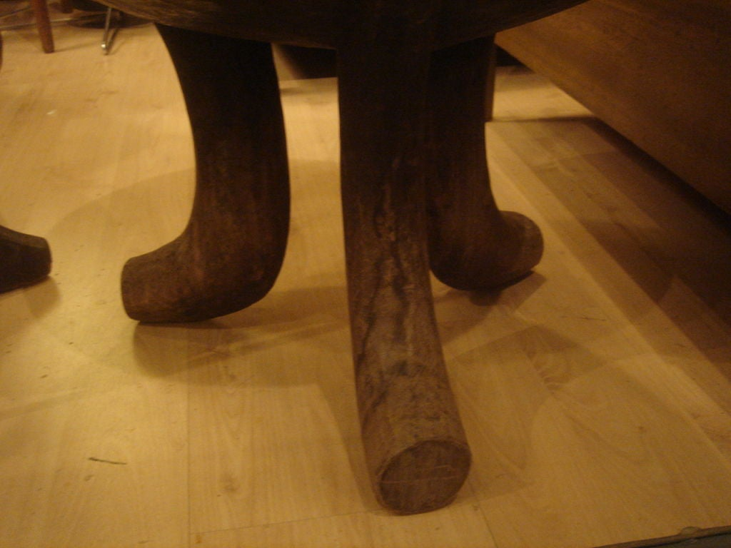 Late 20th Century African Tripod Stool For Sale